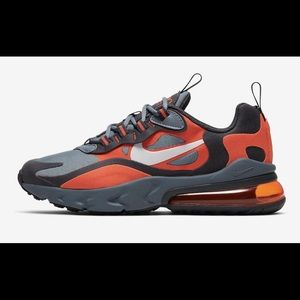 Nike Air Max 270 React Grey Orange NEW